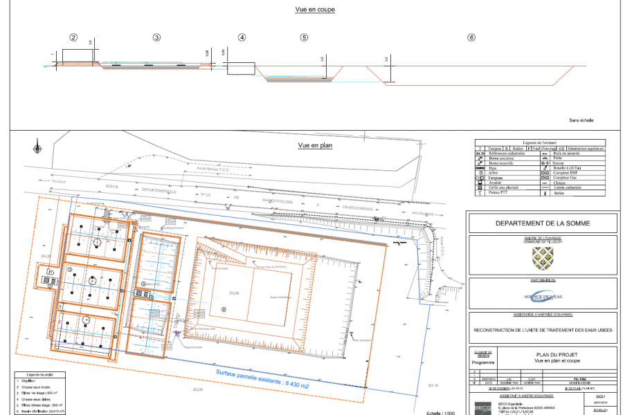 AMO – Reconstruction de la station d'épuration – Tilloloy (Tilloloy)